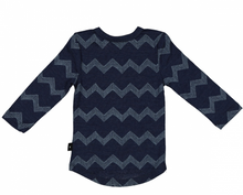 Load image into Gallery viewer, Wyatt Longsleeve Tee-Merino, Admiral Chevron
