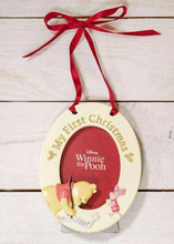 Load image into Gallery viewer, MY FIRST CHRISTMAS- POOH/ EEYORE HANGING FRAME