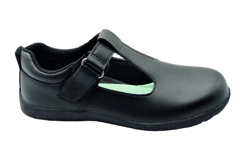 Grosby -Delilah Jnr Leather T-bar Shoes