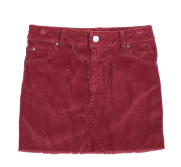 EVE GIRL- STEVIE SKIRT BURGANDY