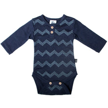 Load image into Gallery viewer, Merino-Finn Bodysuit, Admiral Chevron