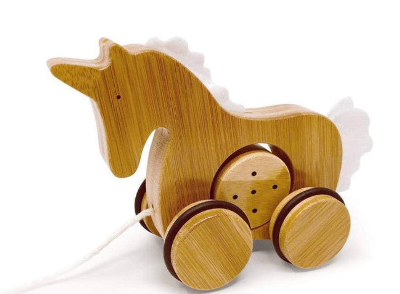 Bamboo Push and Pull Unicorn-Kinderfeets