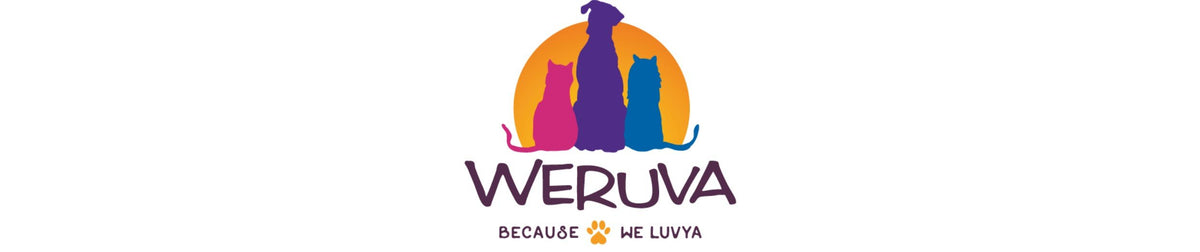Weruva is a line of all-natural, luxury pet food designed for your pets, made with high-quality ingredients including up to 80% animal-based proteins. Logo.