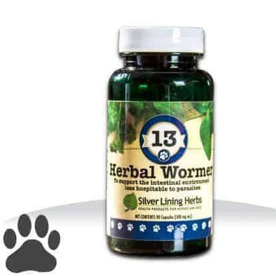 Silver Lining Herbs 113 Herbal Wormer Formula for Dogs, image front