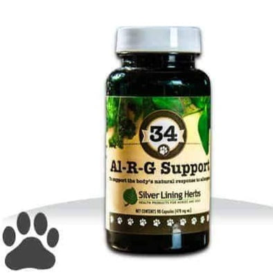 Silver Lining Herbs 34 Al-R-G Support Allergy Supplement for Dogs, front image
