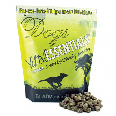 Vital Essentials Freeze Dried Beef Tripe Nibblets Grain Free Limited Ingredient Dog Treats