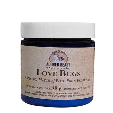 Love Bugs Pre and Pro-Biotics Powder for Dogs, front