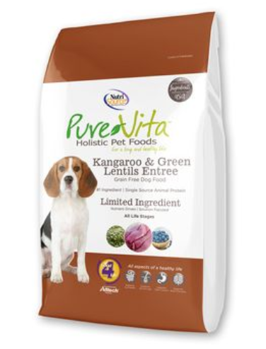 Pure Vita Kangaroo and Green Lentils Dry Dog Food