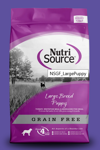 Nutrisource Large Breed Puppy Formula Grain Free Dry Dog Food