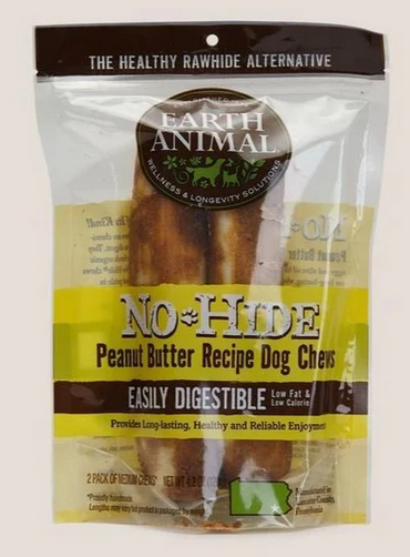 Earth Animal No-Hide® Wholesome Chews for Dogs - Peanut Butter