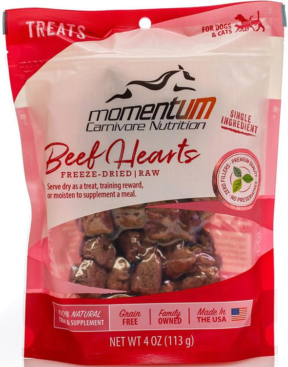 Momentum Beef Hearts Freeze Dried Dog & Cat Treats, front image