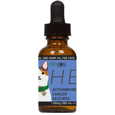 HEAL-Full Spectrum Hemp Extract (CBD) For Cats - 1100 MG is made by CBD Dog Health, front of bottle