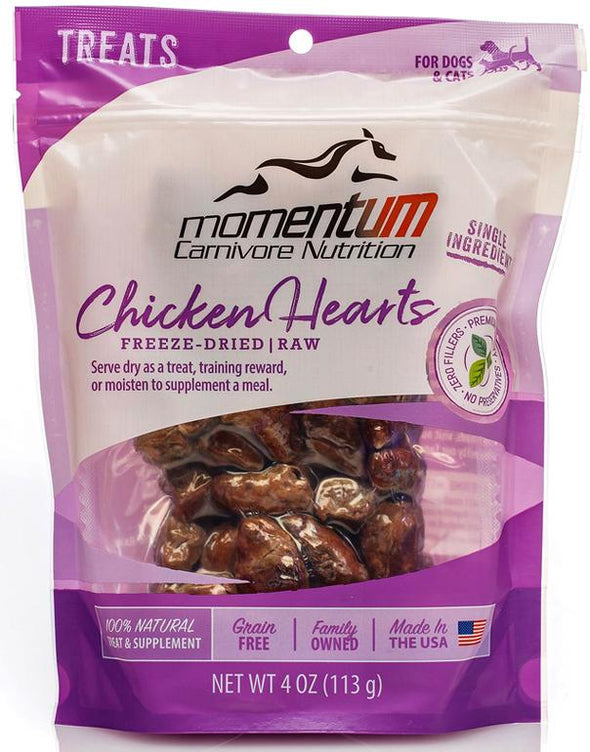 Momentum Chicken Hearts Freeze Dried Dog & Cat Treats, front image