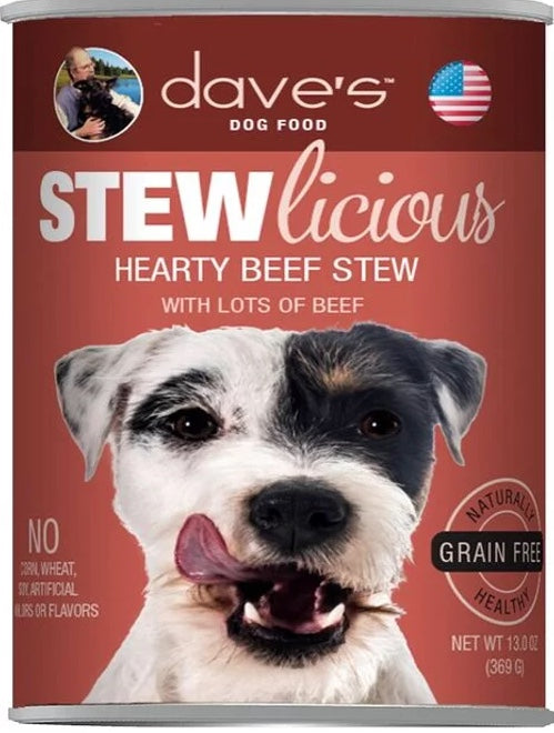 Dave's DOG Stewlicious Hearty Beef Stew Canned Food