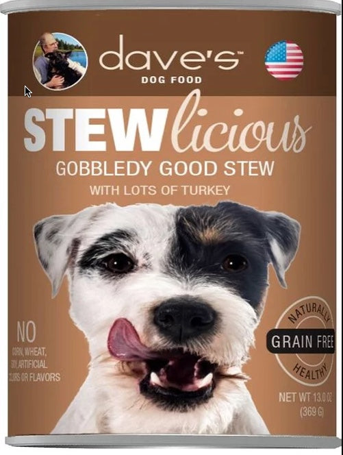 Dave's DOG Stewlicious Gobbledy Good Stew Canned Food