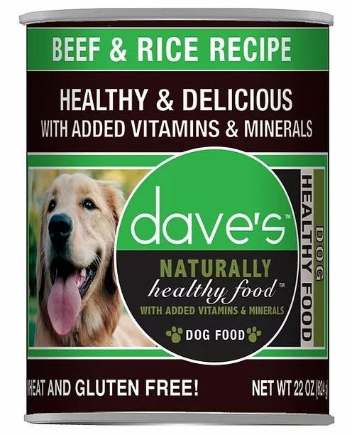 Dave's Naturally Beef and Rice Canned Dog Food