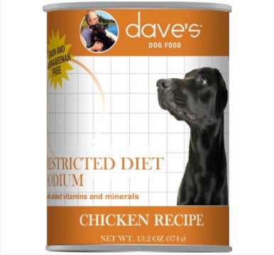 Dave's Restricted Sodium Chicken Dog Canned Food