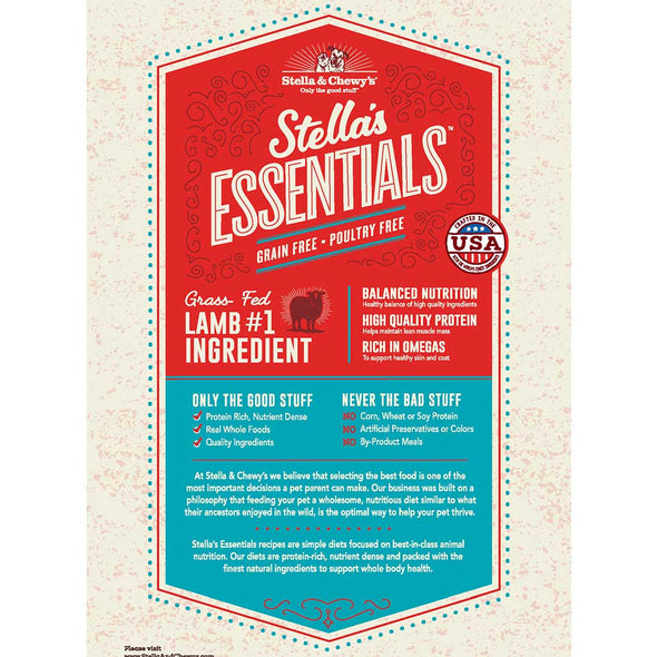 Stella's Essentials Wild Mountain Meadow Lamb Dry Dog Food