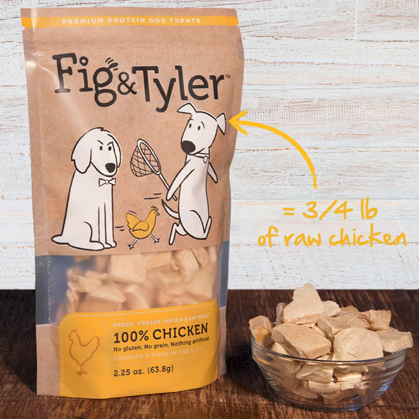 Fig & Tyler Freeze-Dried Raw Chicken Breast Treats for Dogs