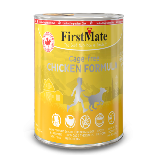 FirstMate's Limited Ingredient Cage Free Chicken Formula Canned Dog Food