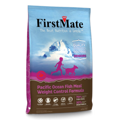 First Mate Pacific Ocean Fish Meal – Weight Control Formula, front of dog food bag
