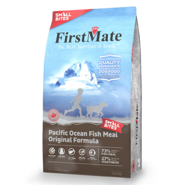 First Mate's Wild Pacific Caught Fish Original Formula Dry Dog Food, blue package