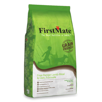 First Mate's Free Range Lamb & Oats Formula Dry Dog Food, green bag