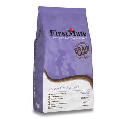First Mate Indoor Dry Cat Formula, purple bag cat food