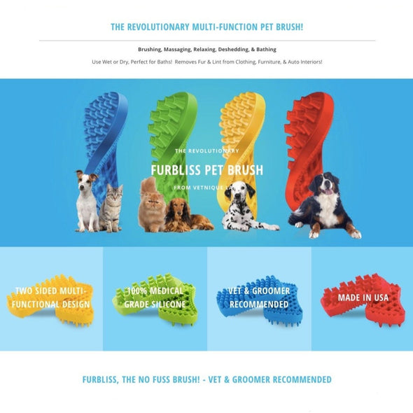 Furbliss™ Grooming Brushes for Pets, different brush sizes