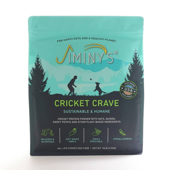 Jiminy's Cricket Crave Dry Dog Food, 10lb dog food bag