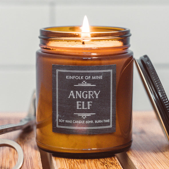 Kinfolk of Mine Angry Elf Tart Red Currant & Evergreen Candle