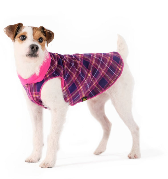 Goldpaw Duluth Double Fleece- Mulberry Plaid and Fuchsia