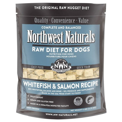 Northwest Naturals Freeze Dried Whitefish & Salmon Nugget Diet for Dogs