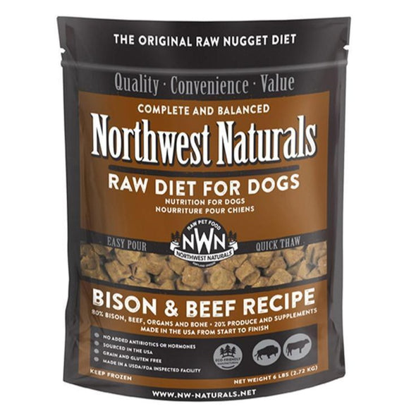 Northwest Naturals Freeze Dried Bison & Beef Nugget Diet for Dogs