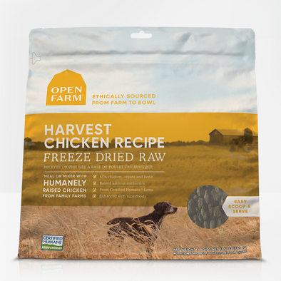 Open Farm Harvest Chicken Freeze Dried Raw Dog Food, front