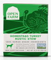 Open Farm Homestead Turkey Rustic Stew for Dogs, front of package