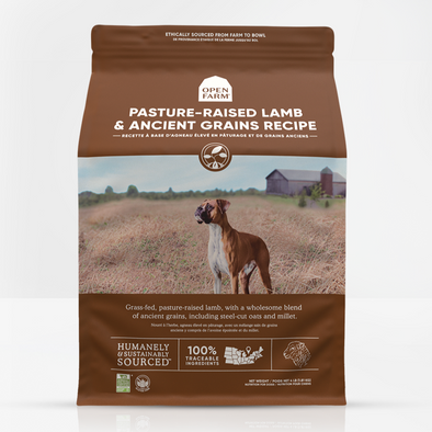 Open Farm Pasture-Raised Lamb & Ancient Grains Dry Dog Food, front of package