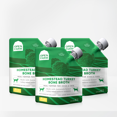 Homestead Turkey Bone Broth Bundle of 3 Pouches for Dogs, at Barking Dog Bakery and Feed