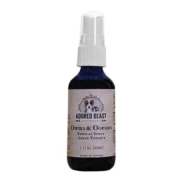Adored Beast Apothecary Owies & Oopsies Topical Spray for Dogs & Cats, image front