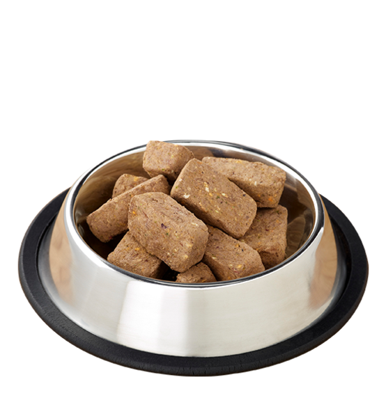 PRIMAL's Raw Freeze-Dried Feline Beef & Salmon Formula, image of product in bowl