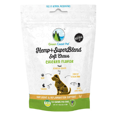 Hemp + SuperBlend Chicken Flavor Soft Chews for Dogs