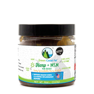 Green Coast Hemp + MSM Paste -  Dog No-Chew Pill Dispenser
