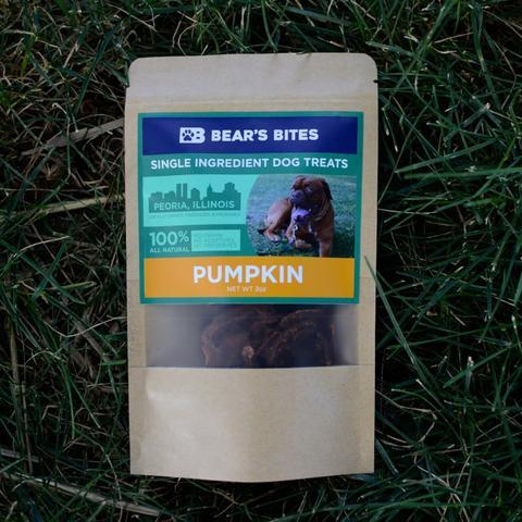Pumpkin Treats for Dogs, front of package