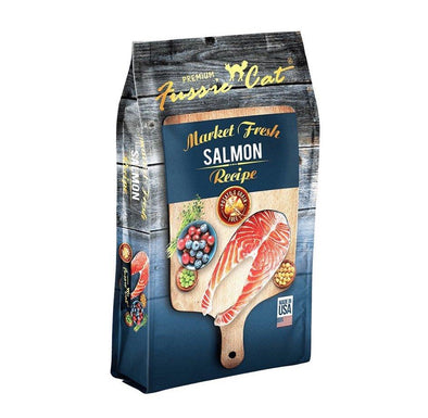 Fussie Cat Market Fresh Salmon Cat Dry Food, front of package