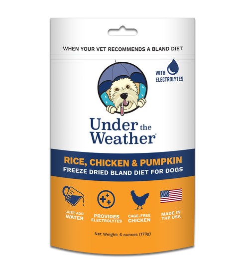 Rice, Chicken & Pumpkin Freeze Dried Dog Food by Under The Weather, back