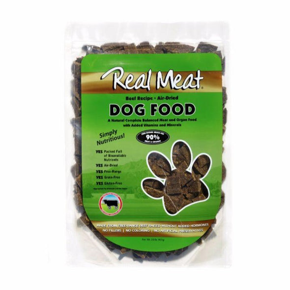 The Real Meat Company Air-Dried Beef Dog Food, front