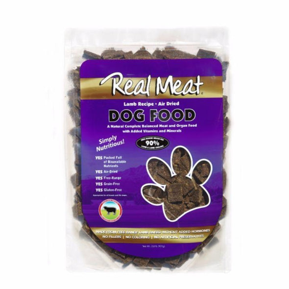 The Real Meat Company Air-Dried Lamb Dog Food, front