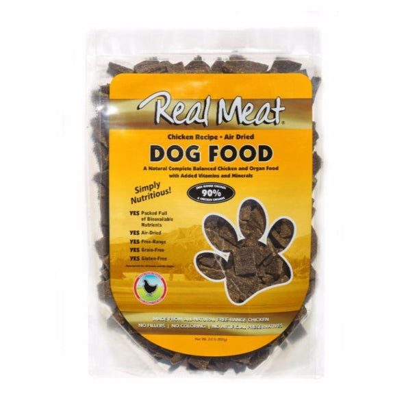 The Real Meat Company Air-Dried Chicken Dog Food, front