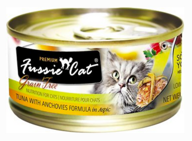 Fussie Cat Premium Tuna with Anchovies Canned Cat Food