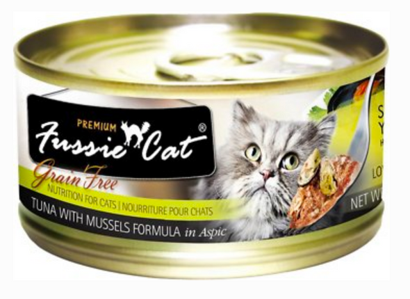 Fussie Cat Premium Tuna with Mussels Canned Cat Food